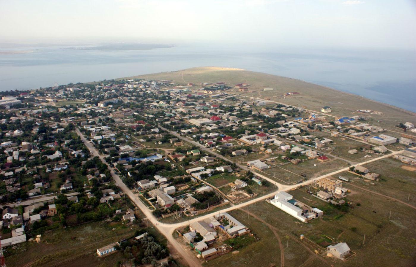 Межводное вид на поселок с высоты