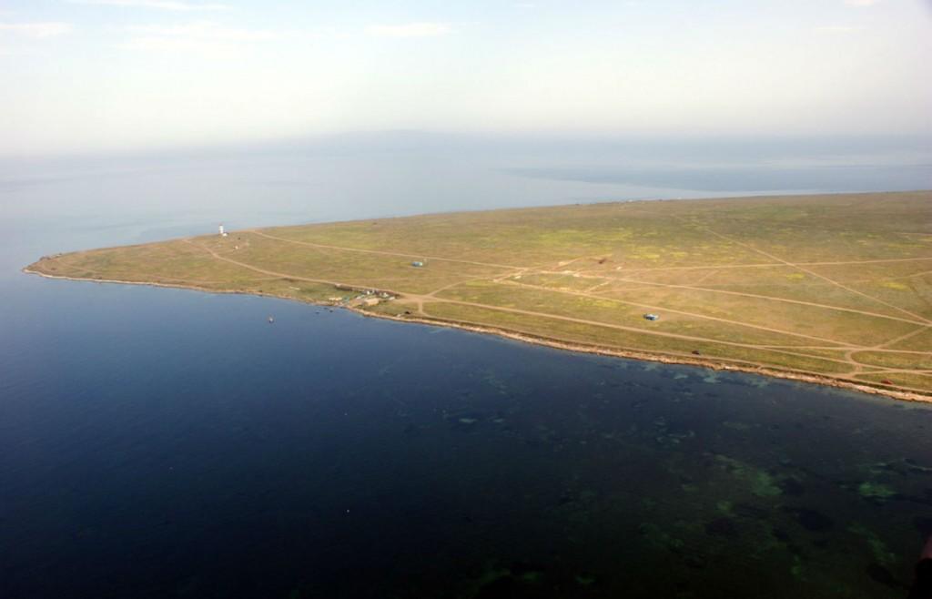 С высоты  вид на Ярылгачскую бухту