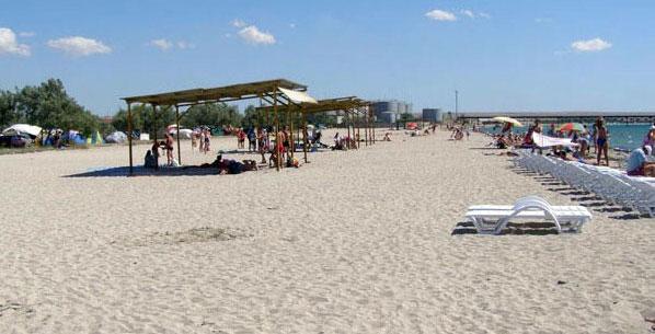 Межводное, пансионат Лазурный берег, пляж