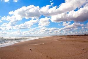 """Пляж в Межводном, """"Бархатный сезон"""""""