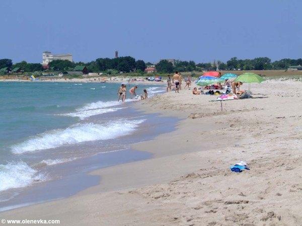 Пляж в Оленевке