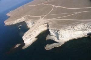 Полуостров Тарханкут, вид с высоты птичьего полета