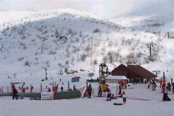 Израиль, горнолыжный курорт на вершине горы Хермон