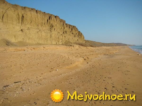 Пляж у поселка Яковенково, восточный крым